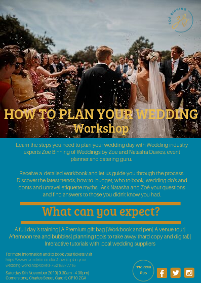 How To Plan Your Wedding Workshop