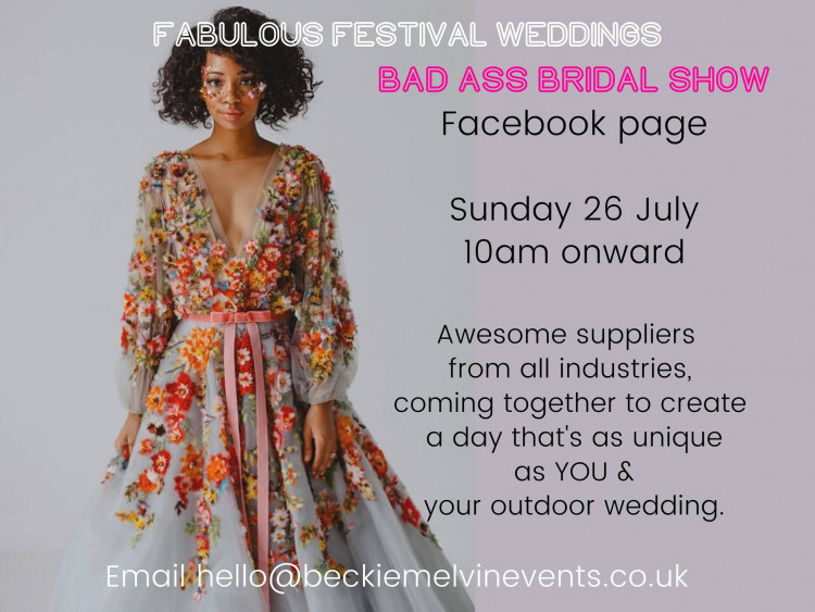 "ONLINE ""The Bad Ass Bridal Show"" Facebook page"