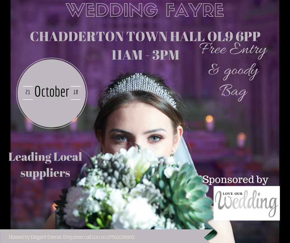 Chadderton Town Hall Oldham Wedding Fayre 21st October 2018
