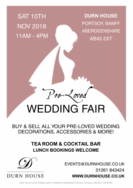 Preloved Wedding Fair At Durn House Portsoy Aberdeenshire 10th